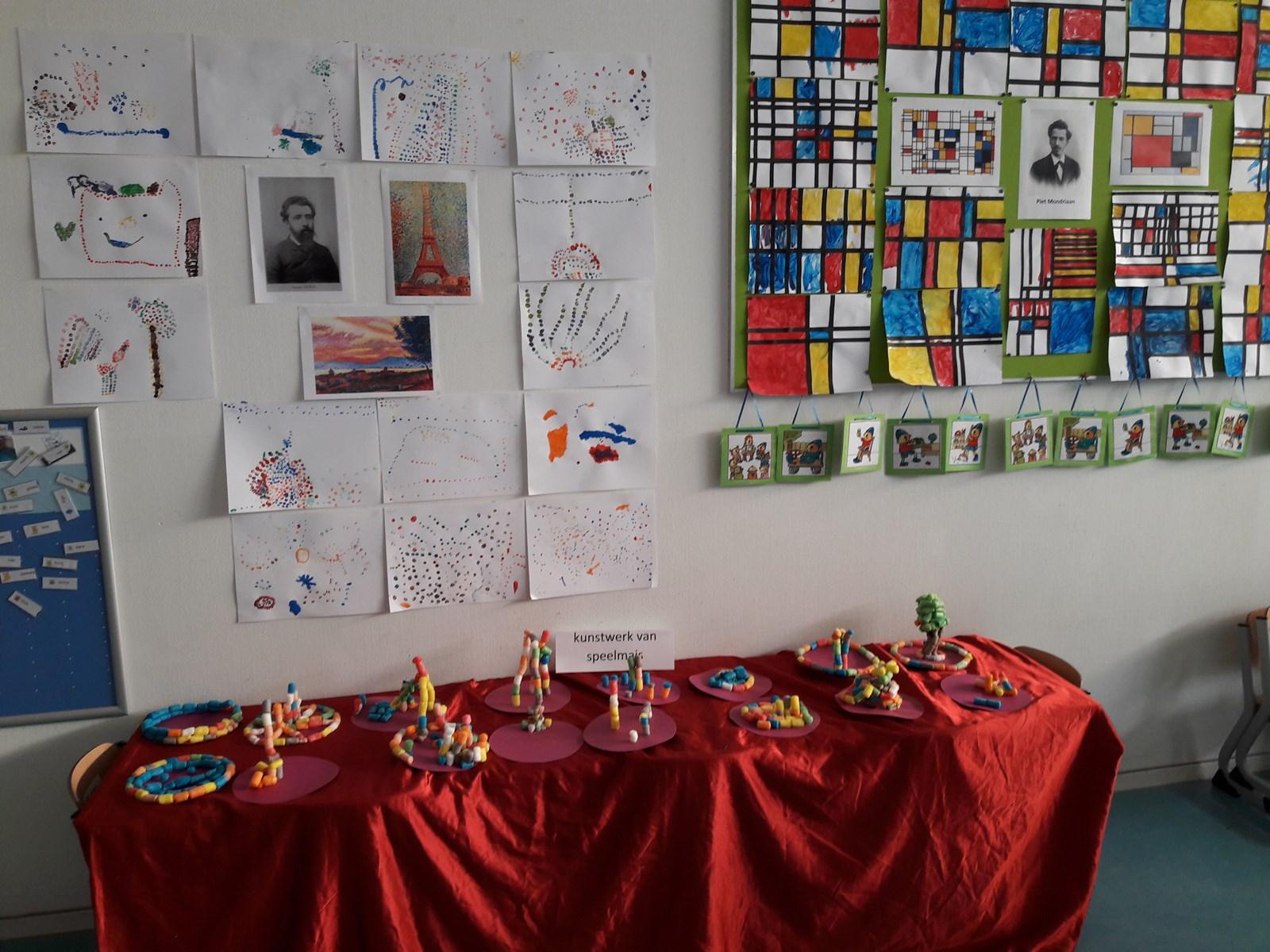 Beste Project 'kunst' bij de kleuters. - Kindcentrum De Notenbalk OT-06