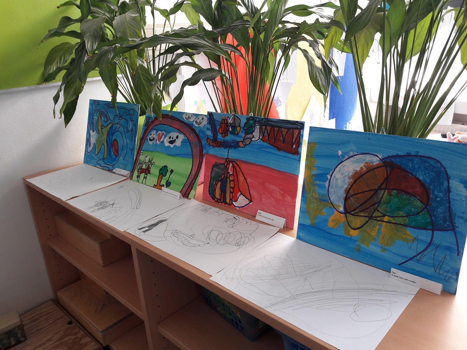Wonderbaar Project 'kunst' bij de kleuters. - Kindcentrum De Notenbalk ER-31